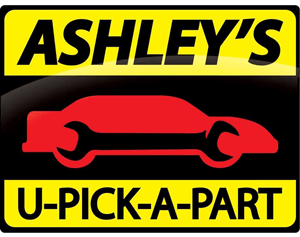 Ashley's U-Pick-A-Part logo